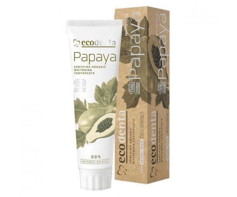 ECODENTA Cosmos Organic Papaya - Wybielająca pasta do zębów z ekstraktem papai 100ml